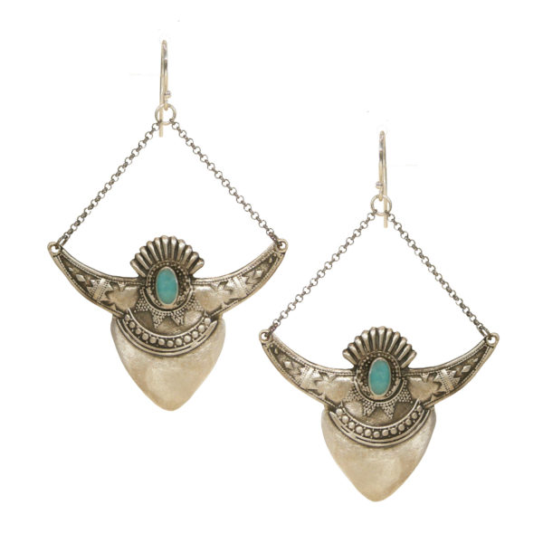 shield earrings silver