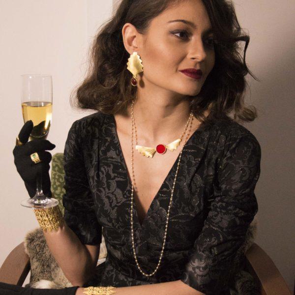 Jordan necklace worn