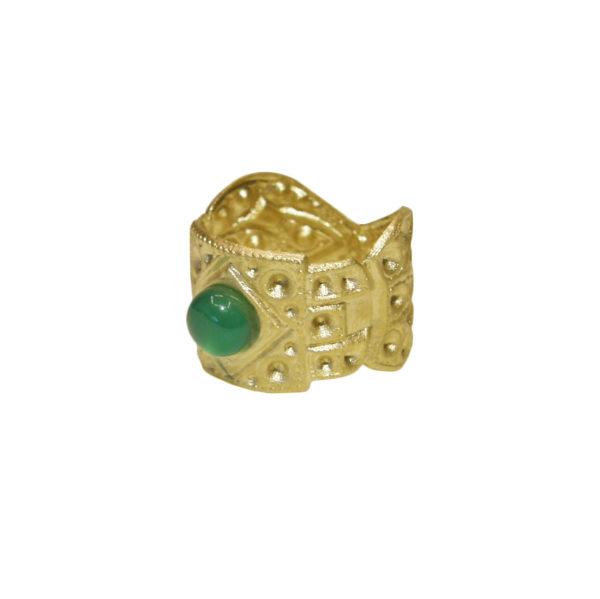 auburn ring green agate