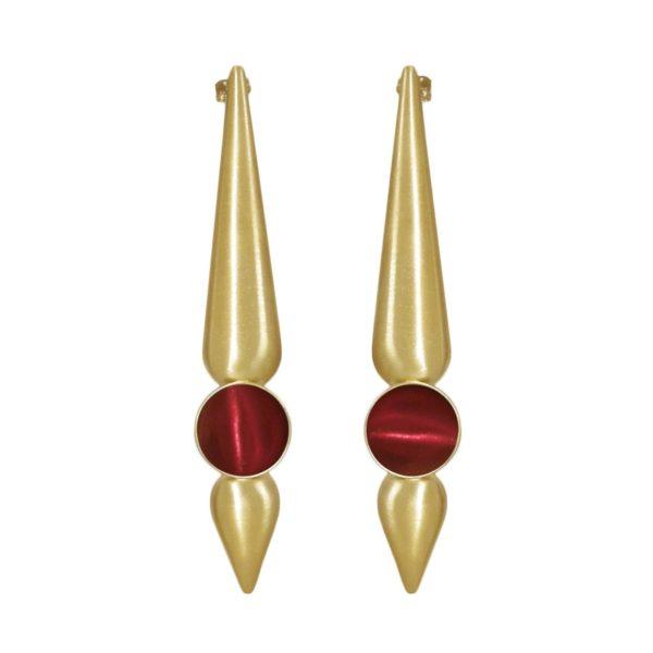 mia earrings red