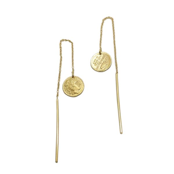lira threader earring gold