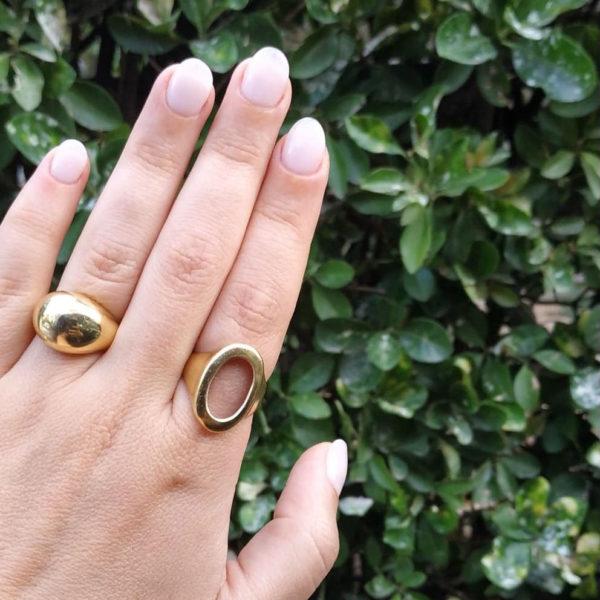 mbr15 Bull Ring gold worn